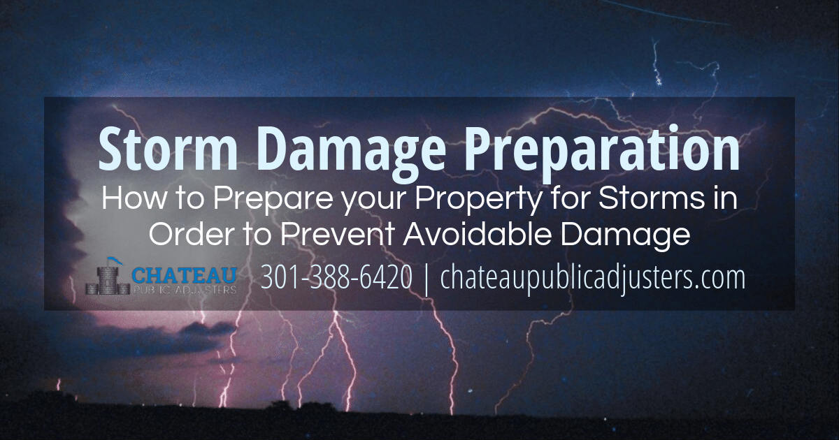Storm Damage Preparation: Tips to Help Prevent Storm Damage to your Property