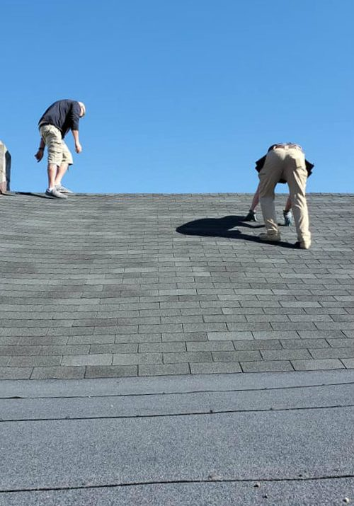Chateau Public Adjusters perfoming an inspection for a roof damage claim in southern Pennsylvania York County